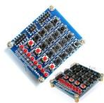 Keypad 4×4 matrix keyboard buttons LED Shield