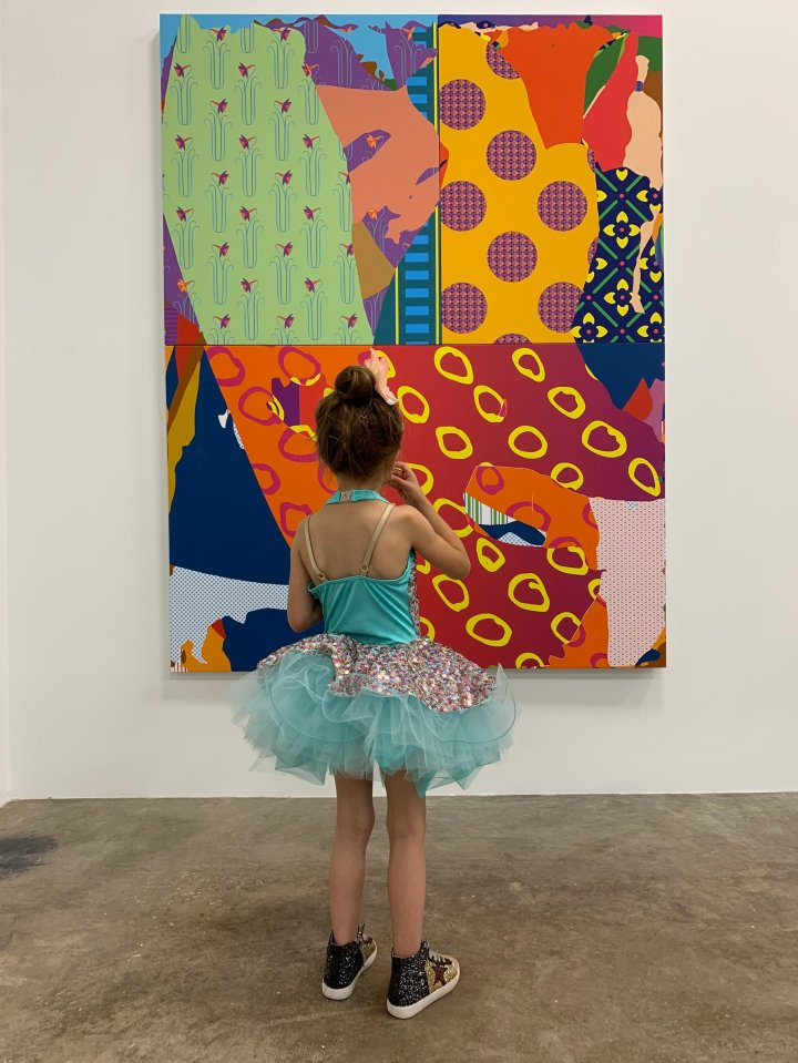 A post-dance recital trip to see Zeke Williams' TWO FOR ONE, on view at Erin Cluley Gallery through June 8, 2019, concurrently with the child-friendly exhibition THE ART OF CHiLDHOOD.
