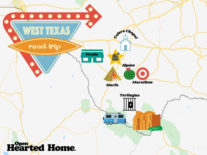 west texas road trip map
