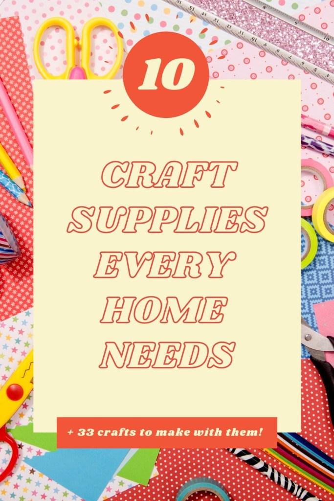 craft supply list for kids