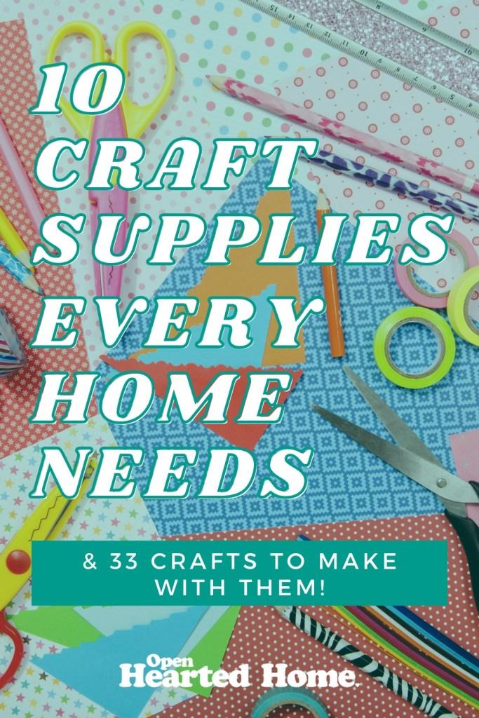 craft supplies ever home needs