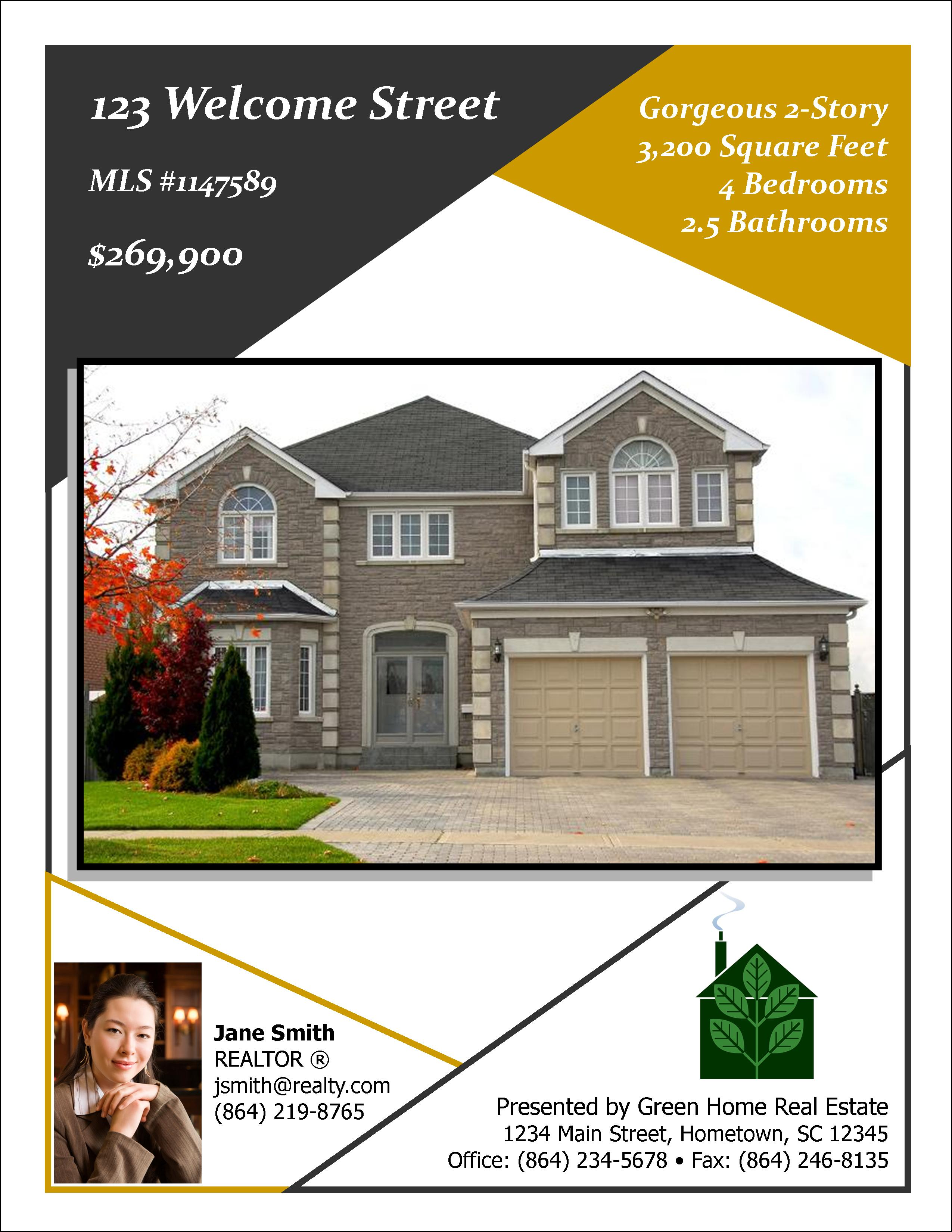 Open House Flyers Templates 2 by flyerheroes designs booklets – Real Estate Open House Flyer Template