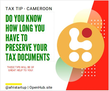 Tax documents in Cameroon