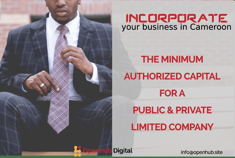 minimum authorized capital in Cameroon