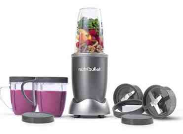 NutriBullet and its extension pieces, including cups and blades
