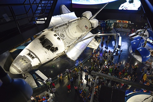 The Space Shuttle Atlantis exhibition remains open at Kennedy Space Center