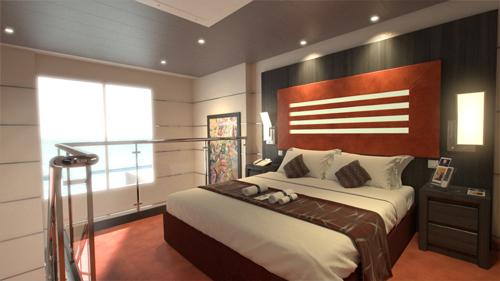 MSC Virtuosa Yacht Club Duplex Suites.