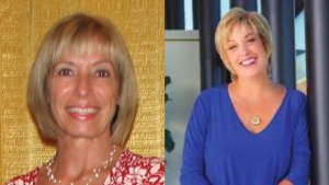 Discover the World Canada Leadership Change - Outgoing: Joanne Lundy (left) Incoming: Jane Clementino (right)