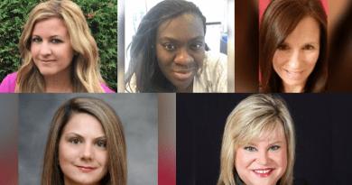 TravelOnly Agent Collage - Clockwise starting from the top left: Daniella Freeman, Nicole Lindsay, Rosie Darosa, Sarah Boville, Stephanie Mayorga