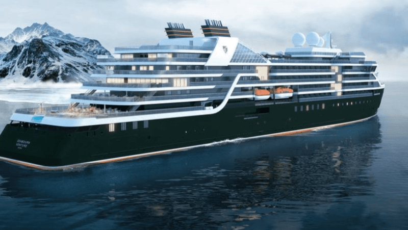 A rendering of the Seabourn Venture