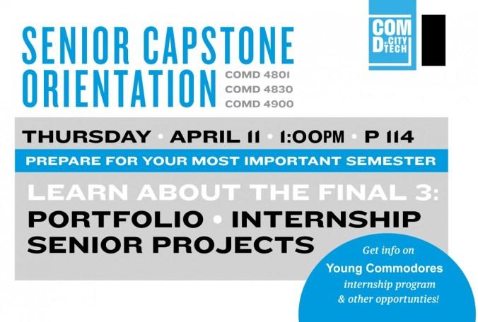 Senior Capstone Orientation