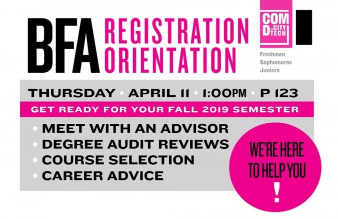 BFA Registration Orientation