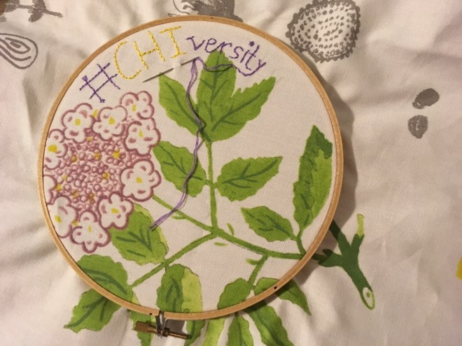 #CHIversity embroidery