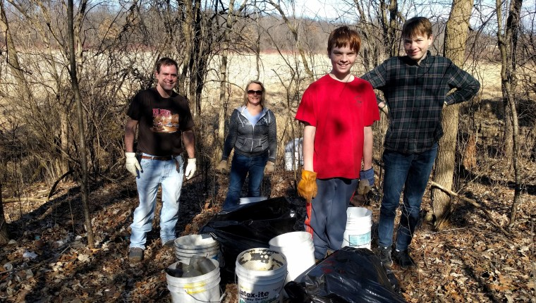 Boy Scout Troop 340 did a great job removing trash from the site!
