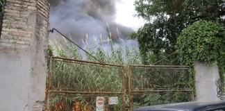 incendio via teano roma