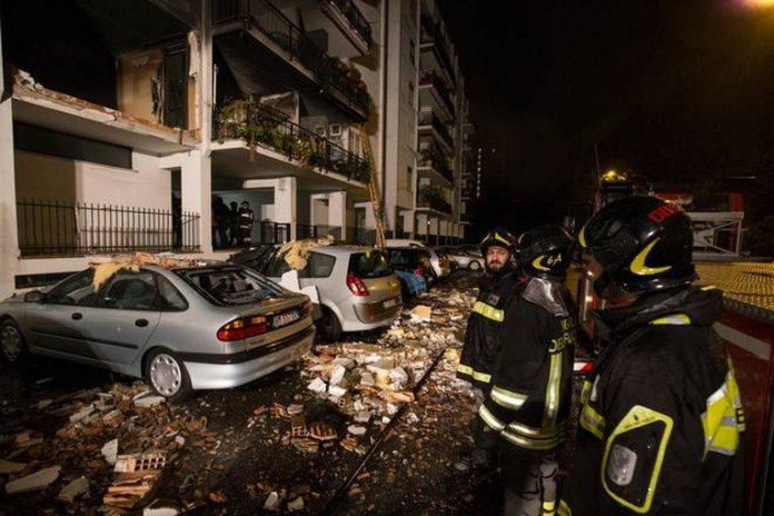esplosione roma colli aniene