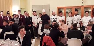 Cena all' IPSEOA nel passato di Roma il futuro del lavoro