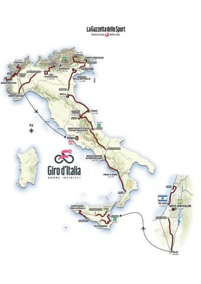 Il Giro d'Italia fa 101. Da Bartali a Gerusalemme