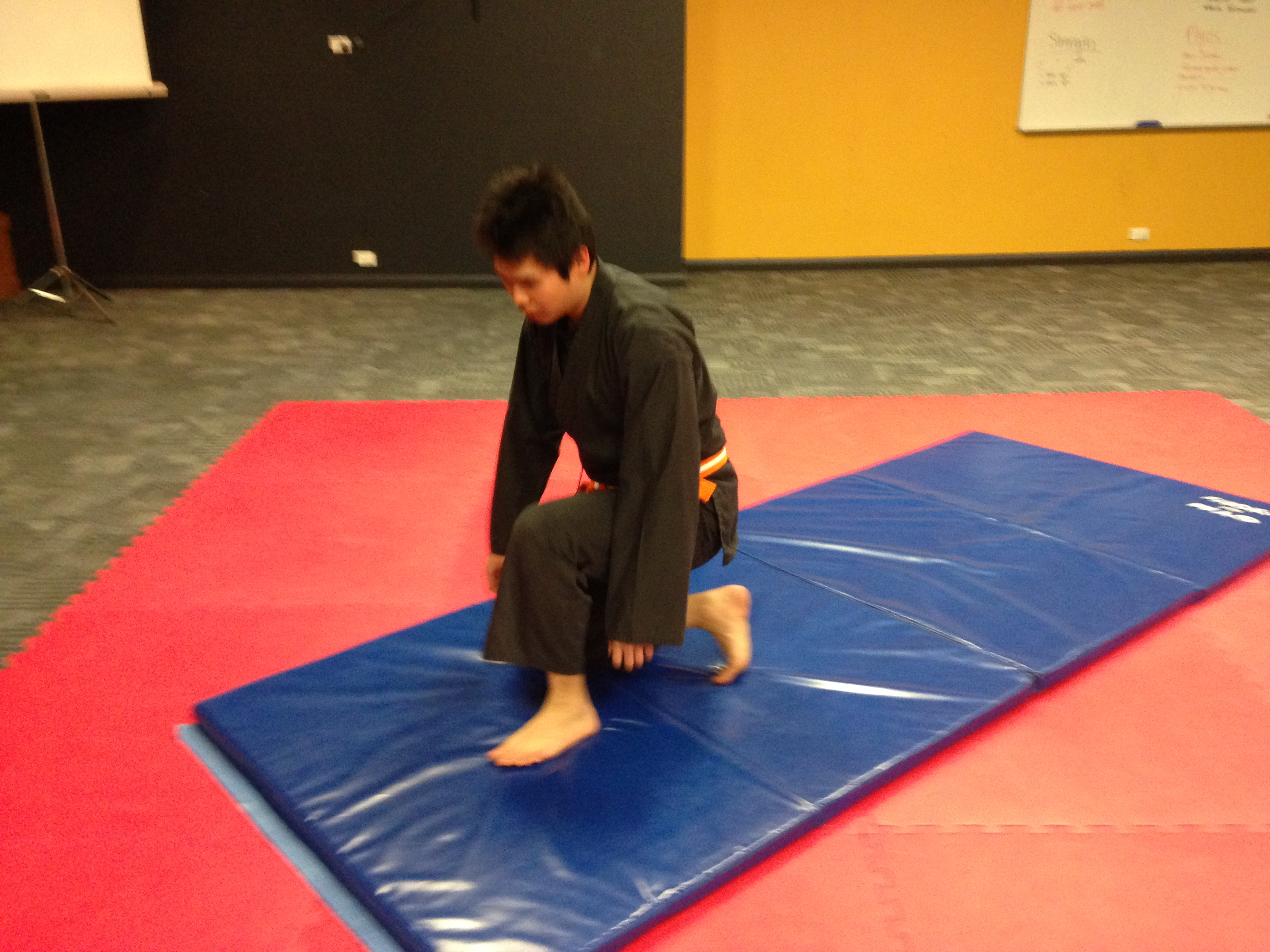 Aikido rolling at Open Mat Martial Arts