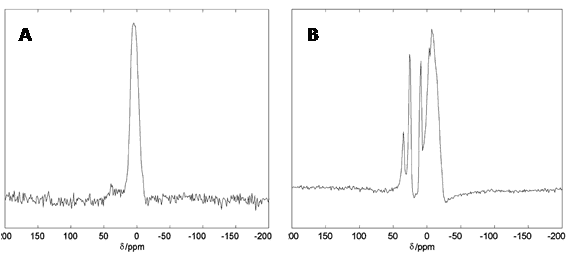 Figure 14 shows aluminium-27 solid-state NMR spectra of human brain tissue