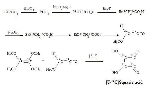Figure 17. Synthesis of [U-14C]squaric acid