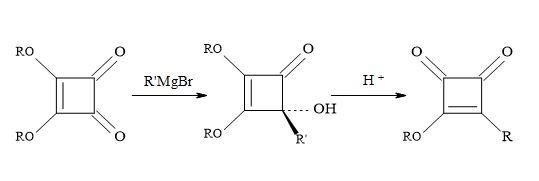 Figure 20. Addition of Grignard reagents on di-propyl squarate