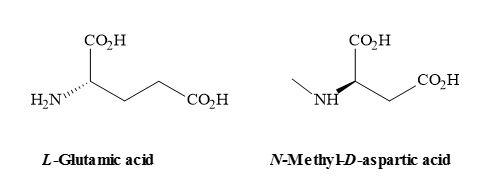 Figure 33. Chemical structures of L-glutamic acid and NMDA