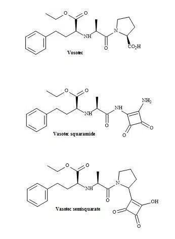 Figure 44. Vasotec and squaryl vasotec