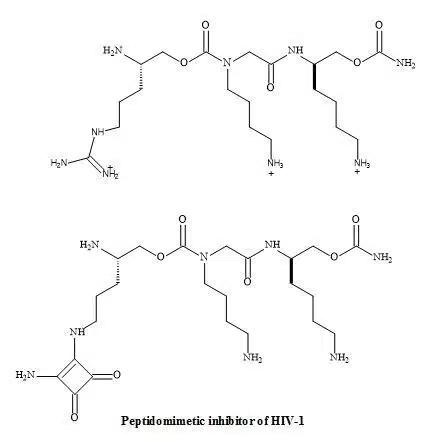 Figure 55. Squaryl peptidomimetic inhibitor of HIV-1