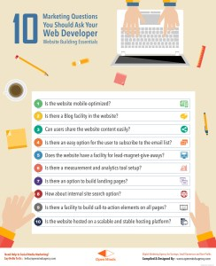 Infographic - 10 Marketing Questions You should Ask Your Web Developer