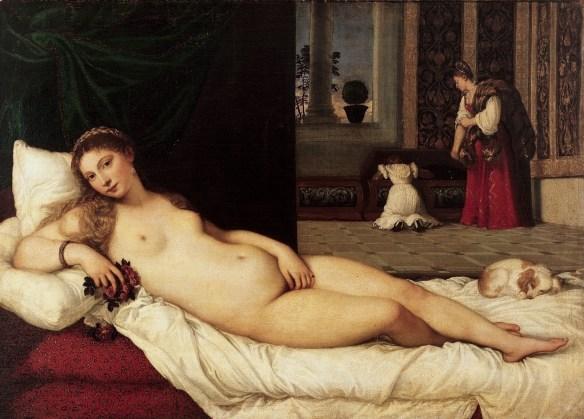 Tizian, Venus von Urbino, 1538, Uffizien, Florenz