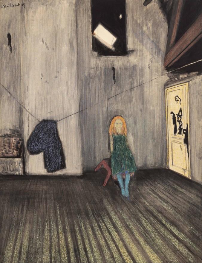 Alleine, 1909 Aquarell, Pastell auf Papier, Museum Dhondt-Dhaenens, Deurle, Belgien