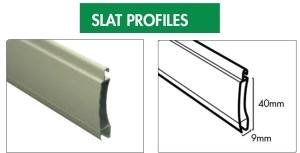 roller shutter slat profiles
