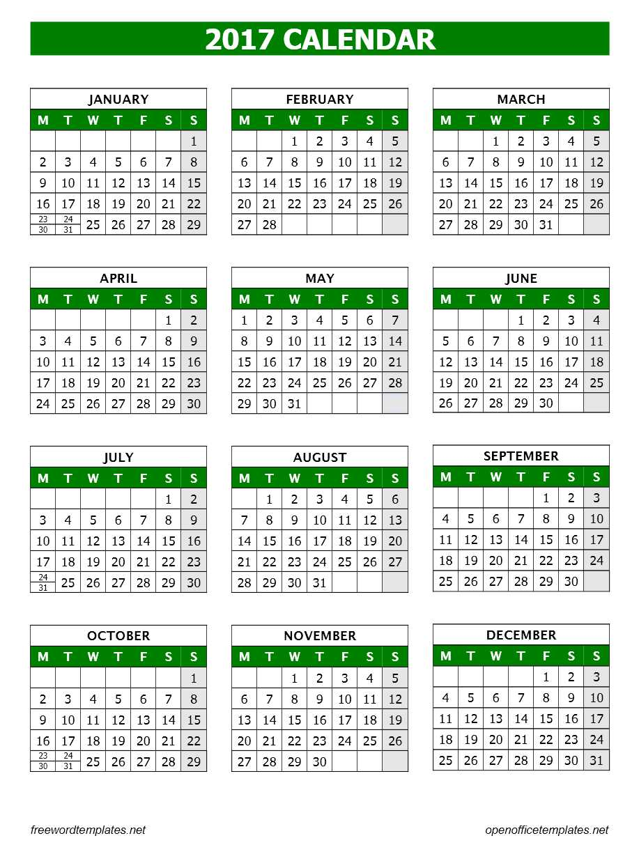 Image result for Calendar Template for Office 2017