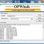 Open Port Whois Tool