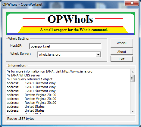 OPWhois a Whois Tool