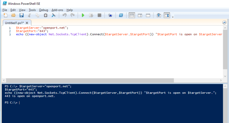 PowerShell Open Port Checker