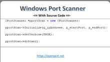 Windows Port Scanner With Source Code