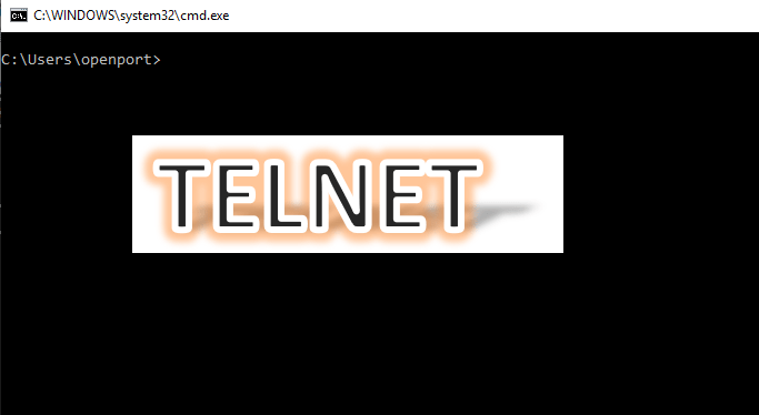 How to telnet to a port