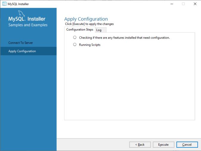 MySQL Apply Configuration
