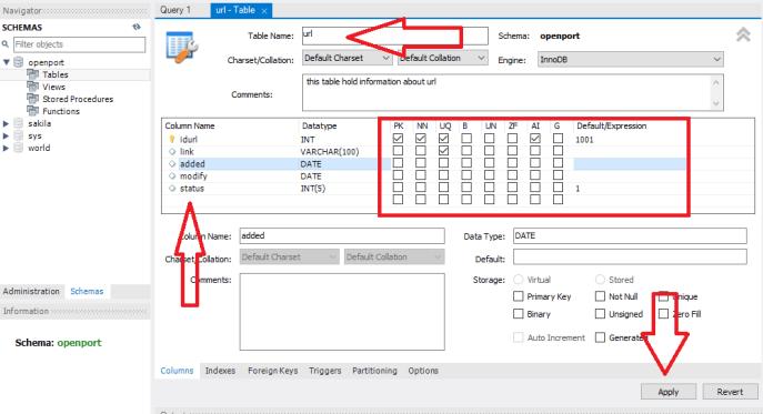 MySQL Create new table