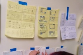 Code for San Francisco's Open Referral team designing the new resource data editing system at the National Day of Civic Hacking