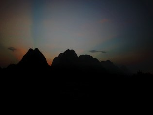 Sunset over Yangshuo