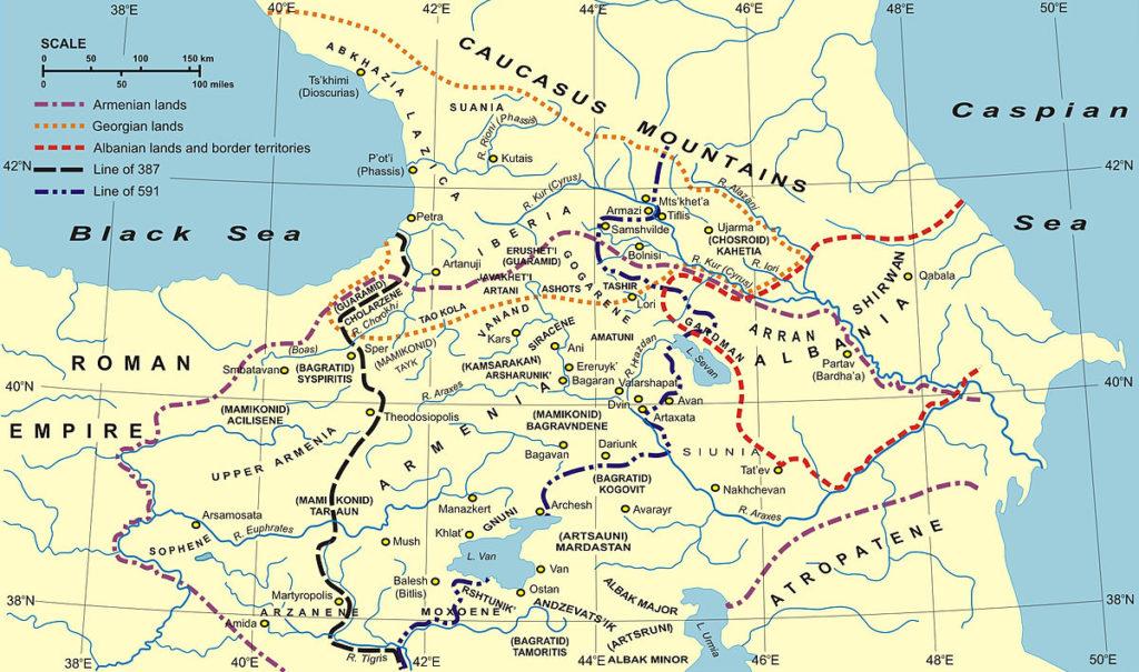 Map of Ancient Caucasus