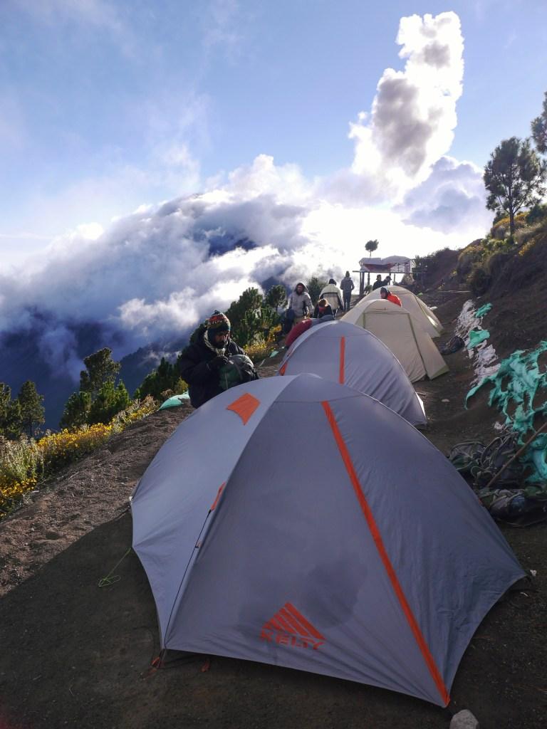 Campsite near Fuego