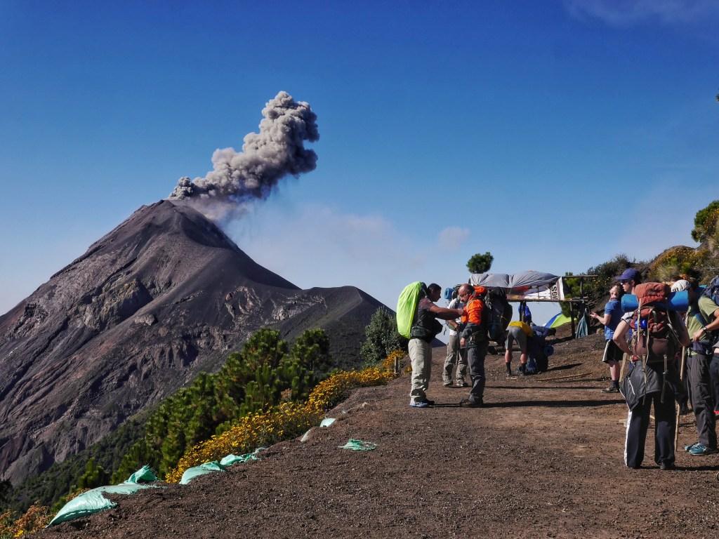 An Eruption Goodbye after Climbing Acatenango