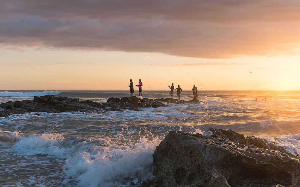 Fishermen at Playa Santa Teresa