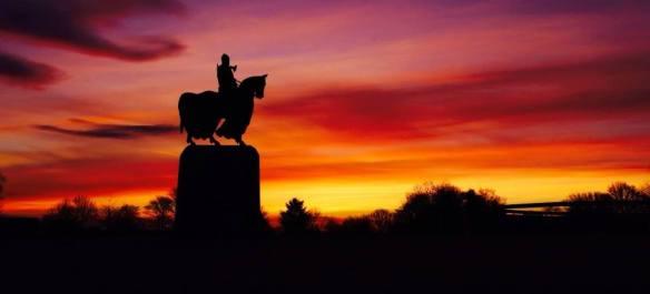Bannockburn at sunrise. Pic credit Mike Bolam