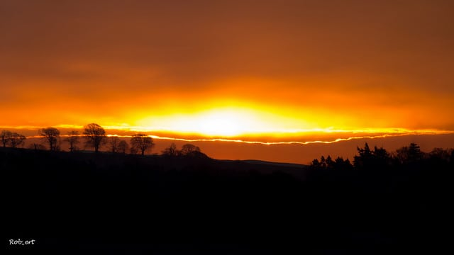 Sunrise over Roxburgh, Scottish Border. Pic credit:  Rob_ert Flickr