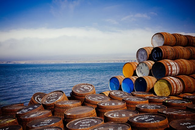 Islay whisky barrels. Pic credit: Jens Mayer on Flickr